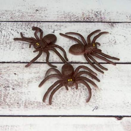 Паук резиновый 6х3см коричневый
