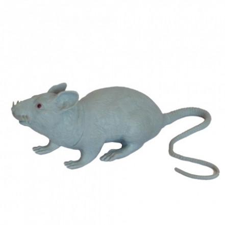 Резиновая Крыса 18см (серая)
