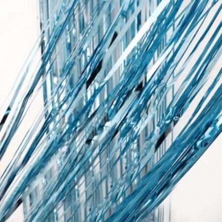 Шторка для фотозоны 1х2м голубая (дождик)