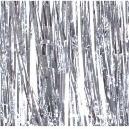 Шторка для фотозоны 1х2м серебро (дождик)