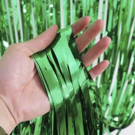 Шторка для фотозоны матовая 1х2м зеленая