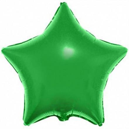 Шарик (45см) Звезда зеленая матовая