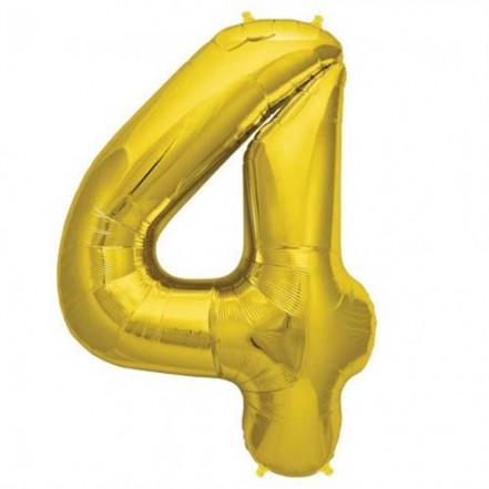 Шарик Цифра золото (80см) 4