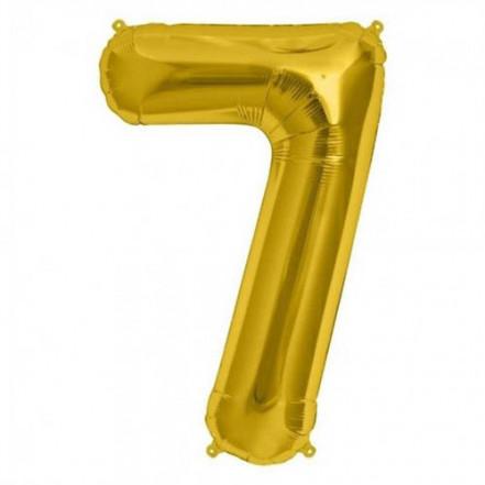 Шарик Цифра золото (80см) 7