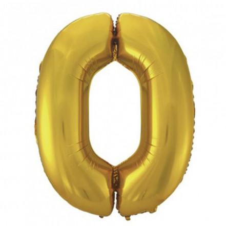 Шарик Цифра золото (100см) 0