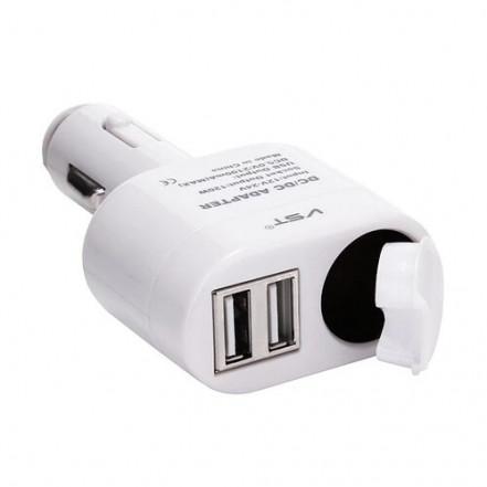 Автомобильная USB зарядка 12V VST-813, 2 USB