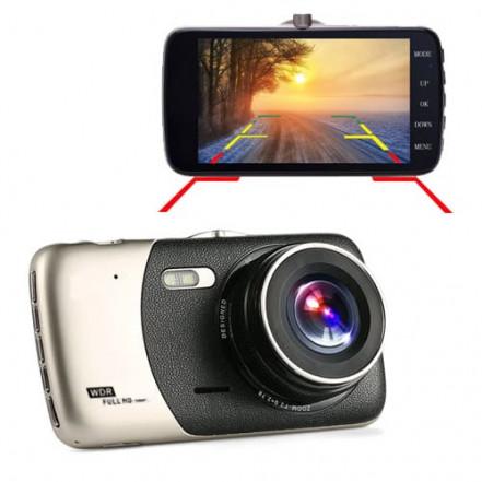 """Автомобильный видеорегистратор X600, LCD 4"""", Angel Lens, камеры, 1080P Full HD, металл. корпус"""
