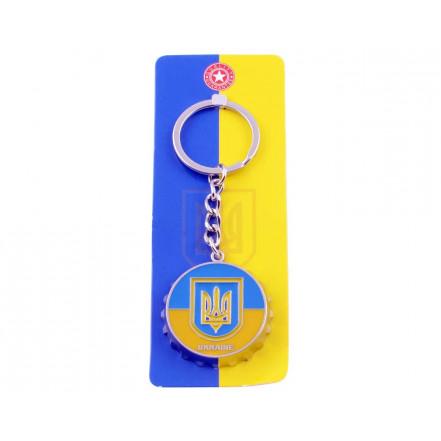 Брелок-открывалка Герб с Флагом Ukraine UK-110C