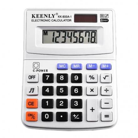 Калькулятор Keenly KK-800A-1, - 8 музыкальный