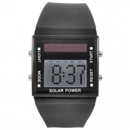 Часы наручные 3000/8001 подсветка, солн. батарея