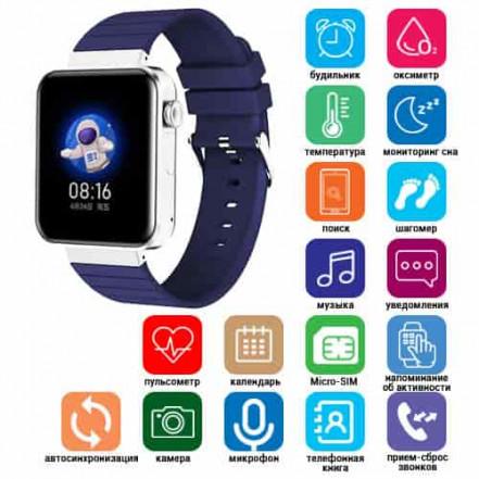 Smart Watch Mi5 pro, Sim card + камера, температура