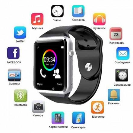 Smart Watch A1, Sim cart + камера
