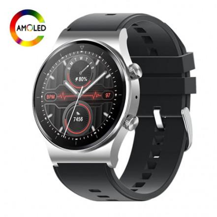 Smart Watch M46, голосовой вызов, IP67, AMOLED screen, silver