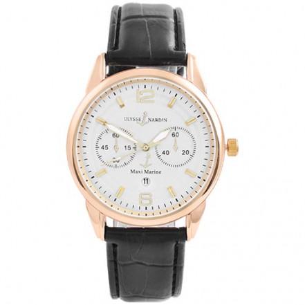 Часы наручные 3905 Ulysse Nardin-Maxi Marine White G-Bk (копия)