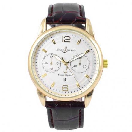 Часы наручные 3905 Ulysse Nardin-Maxi Marine White G-Br (копия)
