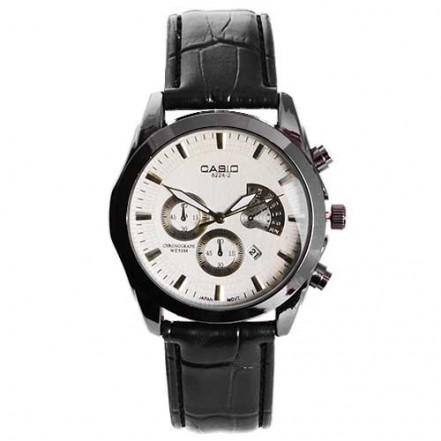 Часы наручные 6112/8224-2 Casio White Bk-Bk (копия)