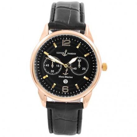Часы наручные 3905 Ulysse Nardin-Maxi Marine Black G-Bk (копия)