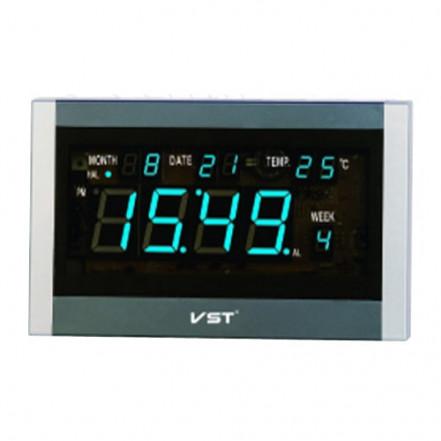 Часы сетевые 771 Т-5 синие, пульт ДУ
