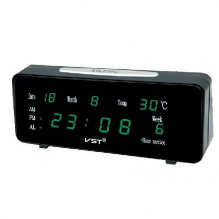 Часы сетевые VST-763 WX-4 салатовые настенные, USB
