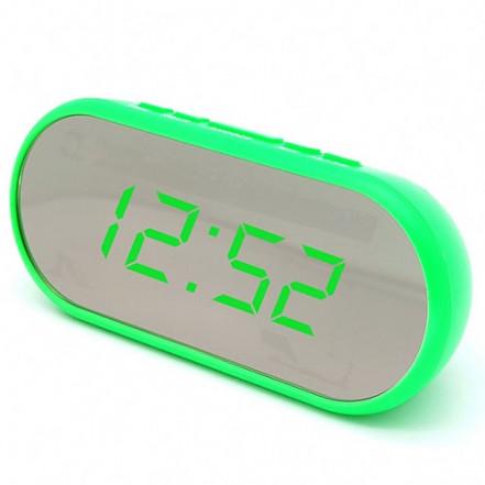 Часы сетевые VST-712Y-4, зеленые, USB