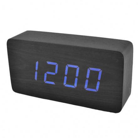Часы сетевые VST-867-5 синие, температура, USB
