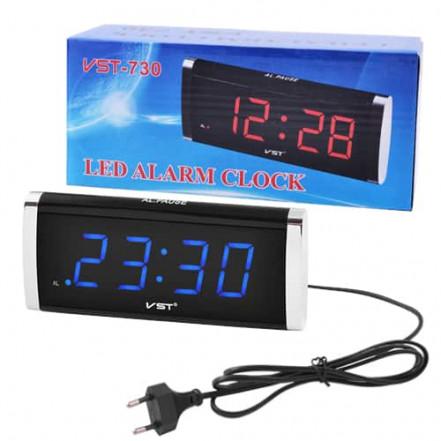 Часы сетевые VST-730-5 синие, 220V