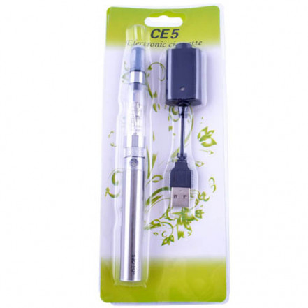Электронная сигарета CE-5, 650 mAh 609-39 Silver (блистерная упаковка)