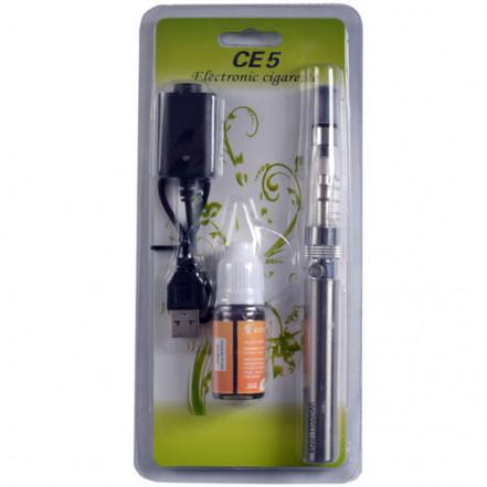 Электронная сигарета eGo, CE5 1100mAh + жидкость (Блистерная упаковка) 609-31 Silver