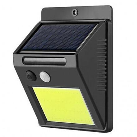 Настенный уличный светильник SH-1605-COB, 1x18650, PIR, CDS, солнечная батарея