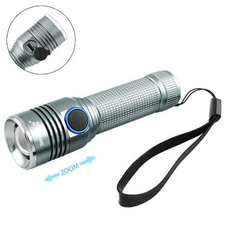 Фонарь Small Sun R842-T6, ЗУ micro USB, 1х18650, zoom, Box