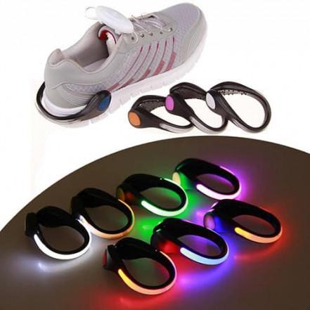 Светодиодный зажим для обуви YZ-606 для спорта, CR2032