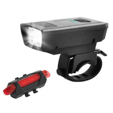 Велокомплект 1803-1-XPE + STOP-5LED, аккум., ЗУ micro USB