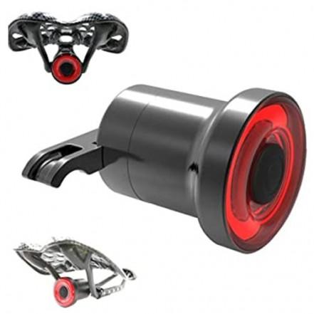 Велофонарь AQY-0117-COB, red, 2 креплениия, ALUMINUM, ЗУ microUSB, встроенный аккумулятор