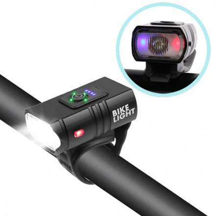 Велофонарь BK-01Pro-XPE ULTRA LIGHT, ALUMINUM, индикация заряда, Waterproof, аккум., ЗУ micro USB