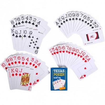 Карты пластиковые Texas Poker (54 шт) 408-30-1