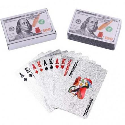 Карты пластиковые Dollar Silver (54 шт) 408-4