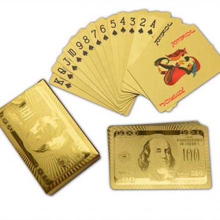 Карты пластиковые Dollar Gold (54 шт) 408-6