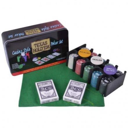 Покерный набор на 200 фишек с номиналом 200T-2 (Техасский холдем)