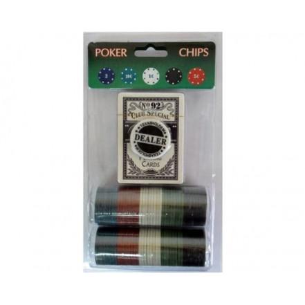 Фишки для покера 80шт + колода карт 80Р-В