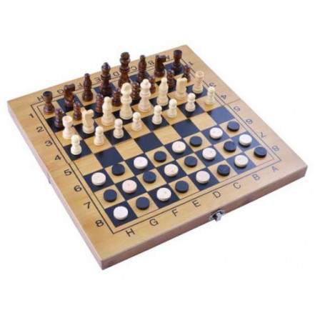 Игровой набор 3в1 нарды, шахматы и шашки 3517B