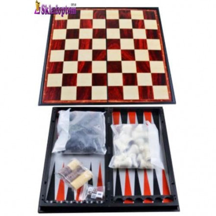 Набор 3в1 Нарды,Шахматы,Шашки (Магнитная доска)  37710