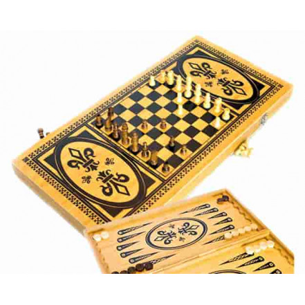 Шахматы Шашки Нарды 3в1 4020C (39.5 Х 39.5)