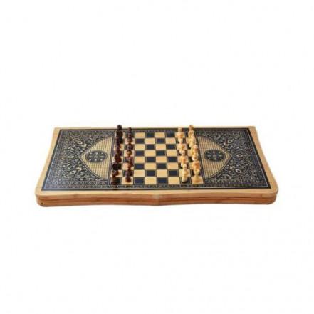 Игровой набор 3в1 нарды шахматы и шашки В 6535