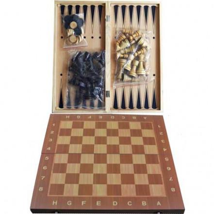 Шахматы Шашки Нарды 3в1 W7721 (24х24см)