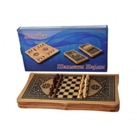 Игровой набор 3в1 Шахматы Шашки Нарды В 4825