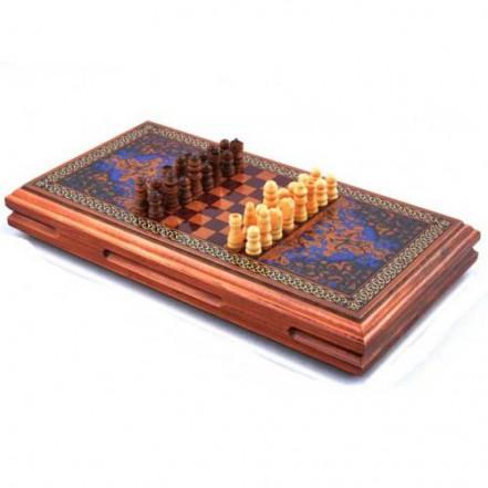Игровой набор 3в1 нарды шахматы и шашки XLY-730 (32х32 см)