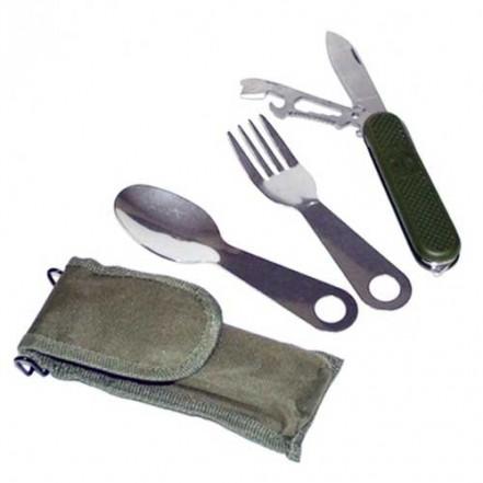 Набор туристический Нож/Вилка/Ложка S-003