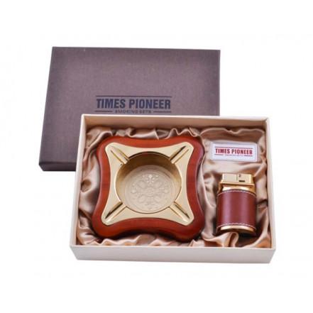 Подарочный набор Pioneer пепельница и зажигалка 3619