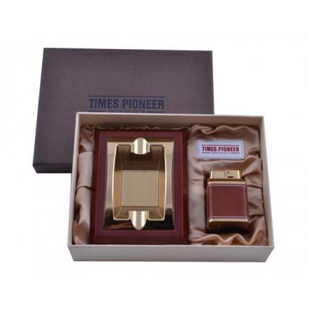 """Подарочный набор """"Pioneer"""" 2в1 пепельница и зажигалка 3620"""
