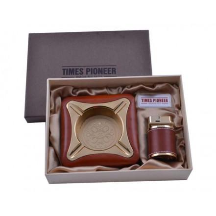 Подарочный набор Pioneer 2в1 Пепельница и зажигалка 3622